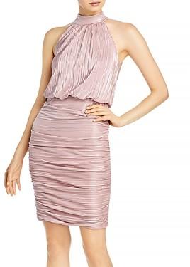 Aqua Ruched High Neck Dress - 100% Exclusive