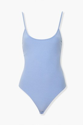 Forever 21 Ribbed Lace-Back Bodysuit