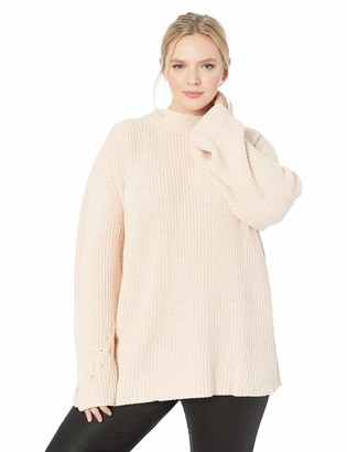 City Chic Women's Apparel Women's Plus Size Long Sleeve Detailed Knit Jumper