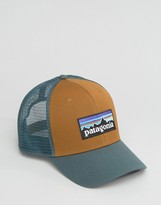 Patagonia Logo Trucker Cap In Brown
