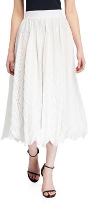 Emporio Armani Elastic Waist Plisse Full Skirt