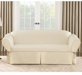 Sure Fit Cotton Canvas One Piece T-Cushion Sofa Slipcover