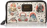 Loungefly Star Wars Tattoo Flash Print Faux Wallet