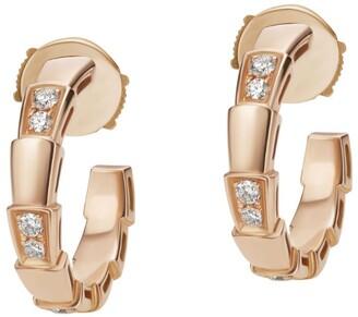 Bvlgari Rose Gold and Diamonds Serpenti Viper Earrings