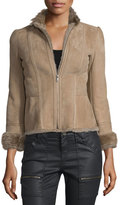 Joie Amica Shearling-Lined Suede Jacket