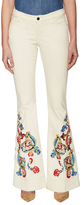 Alice + Olivia Ryley Cotton Embroidered Bell Jean