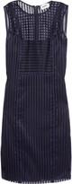 DKNY Striped mesh dress