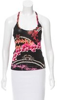 Just Cavalli Sleeveless Floral Print Crop Top