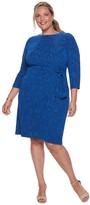 Plus Size Suite 7 Paisley Sheath Dress