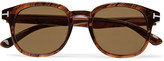 Tom Ford Frank Tortoiseshell Acetate D-frame Sunglasses - Brown