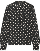 Marc Jacobs Polka-dot Silk Crepe De Chine Blouse