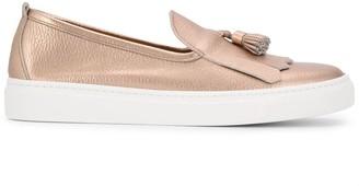 Henderson Baracco Metallic Tassel Detail Loafers