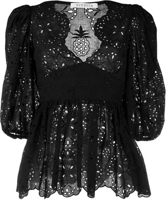 VIVETTA Embroidered Lace Blouse