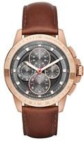 MICHAEL Michael Kors Women's 'Ryker' Chronograph Leather Strap Watch, 43Mm