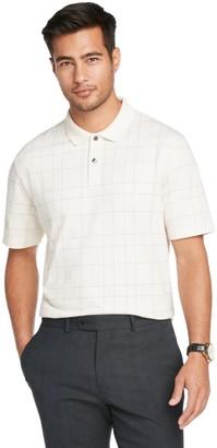 Van Heusen Men's Flex Windowpane Short Sleeve Polo Shirt