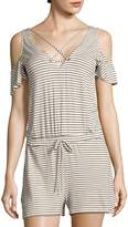 Project Social T Women's Bettie Striped Cold-Shoulder Jumpsuit