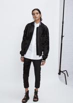 Haider Ackermann baker black / saglia black bomber jacket