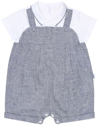Il Gufo Baby linen cotton playsuit