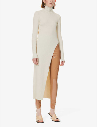 The Range Alloy high-neck stretch-jersey dress
