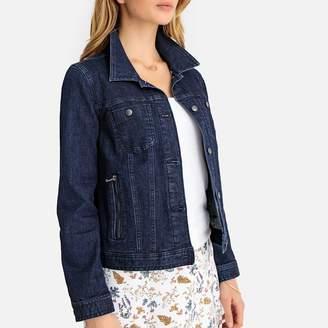 Anne Weyburn Stretch Denim Jacket with Pockets