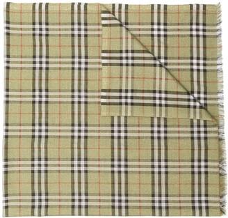 Burberry Check metallic thread scarf
