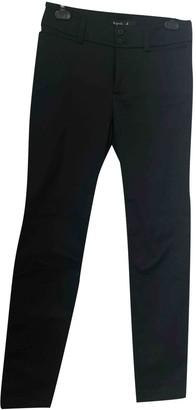 agnès b. Black Cotton Trousers for Women Vintage
