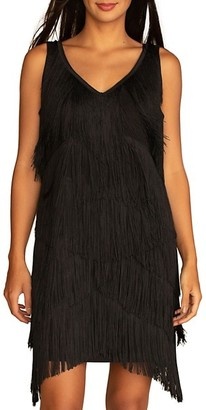 Trina Turk Bevel Fringe Dress