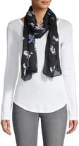 Proenza Schouler Abstract Floral Silk Scarf