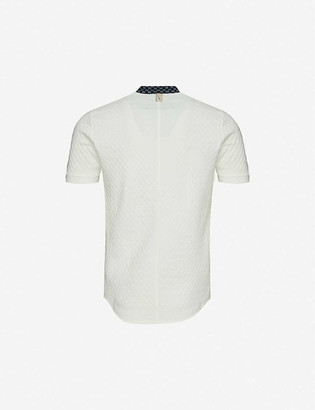 Prevu Seville stretch-woven polo shirt