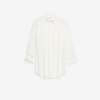 Balenciaga Pleated Shirt Dress