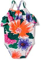 Old Navy Floral Ruffle-Trim One-Piece Swimsuit for Toddler