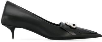 Balenciaga BB kitten-heel pumps