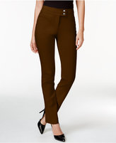 Style&Co. Style & Co. Petite Slim-Leg Tummy-Control Pants, Only at Macy's