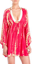 Raviya Long Sleeve Tie-Dye Cover-Up