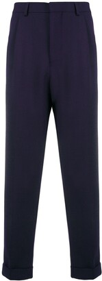 Ami Paris Pleated Carrot Fit Trousers