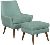 HomePop Home Pop Dean Modern Accent Chair & Ottoman 2-piece Set