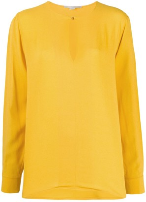 Stella McCartney Split-Sleeve Keyhole Blouse