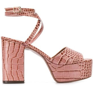 L'Autre Chose croc-effect 100mm platform sandals