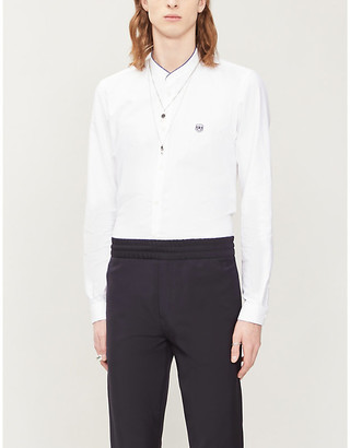 The Kooples Sport Contrast-trim slim-fit cotton shirt