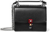 Fendi Mini Leather Shoulder Bag - Black