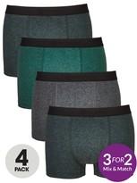 Very 4 Pk Khaki Stripe Trunks Multi