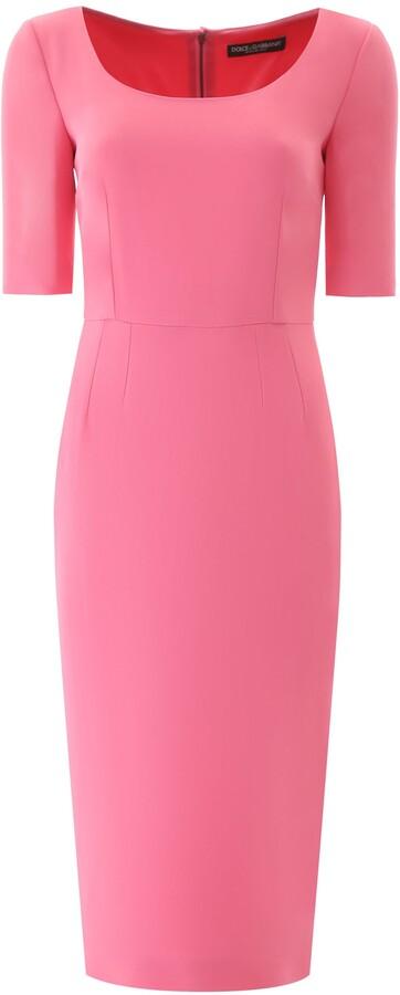 Thumbnail for your product : Dolce & Gabbana SHEATH MIDI DRESS 42 Pink