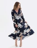 Harlow Long-Sleeve Maternity Dress