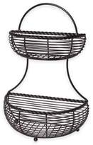 Mikasa Wire Rope 2-Tier Countertop Basket in Black