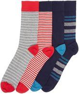 Howick 5 Pack Birdseye Stripe Socks