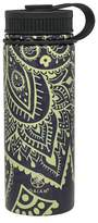 Gaiam 18oz Stainless Steel Water Bottle - Blue/Yellow Sundial Layers