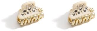 Alexandre de Paris Vendome Clip White Full Strass 1.8Cm
