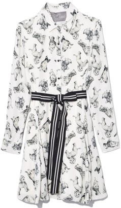 Lela Rose Man's Best Friend Print Dress in Multi