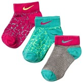Nike Pack of 3 Low Cut Graphic Print Socks