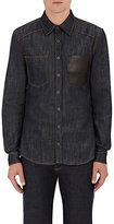 Givenchy MEN'S LEATHER-POCKET COTTON SHIRT